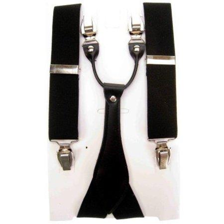 Bretel luxe zwart met leder