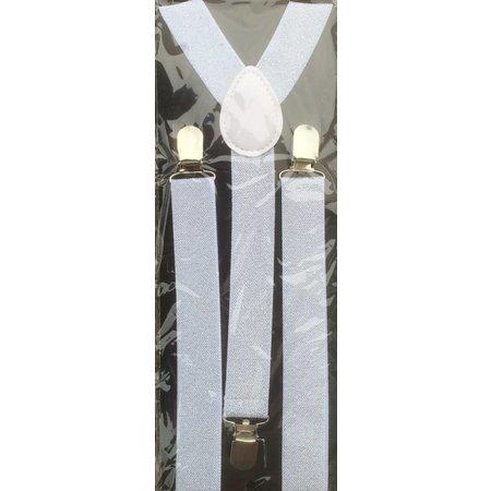 Bretels glitter zilver