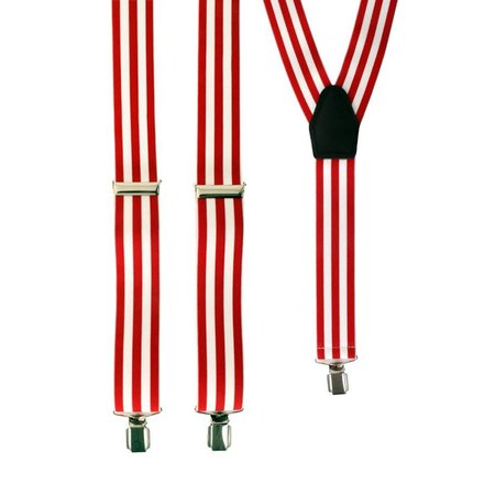 Bretels rood/wit gestreept