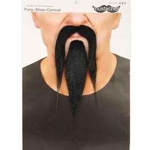 Snor + baard zwart Heng