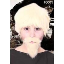 Snor + baard blond