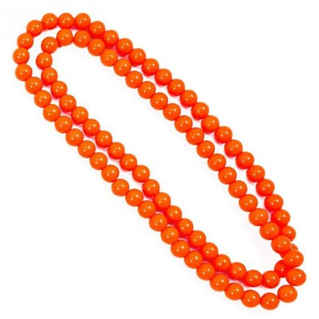 Ketting 100cm neon oranje