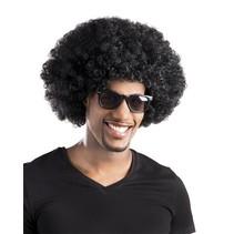 Pruik afro zwart Biton