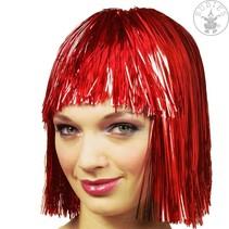 Lametta pruik rood