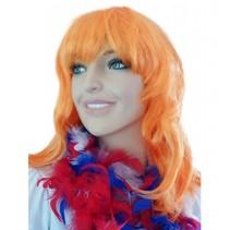 Pruik oranje new look Jolijt