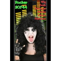 Pruik rock zwart Renzo