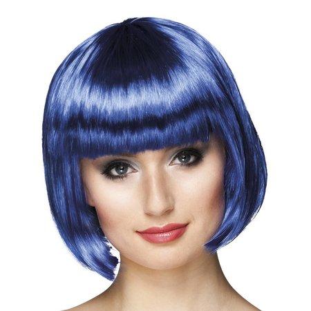 Pruik bobline new look blauw