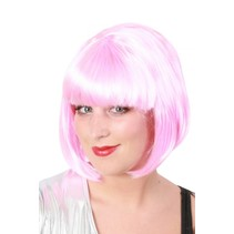 Pruik sensation bobline roze