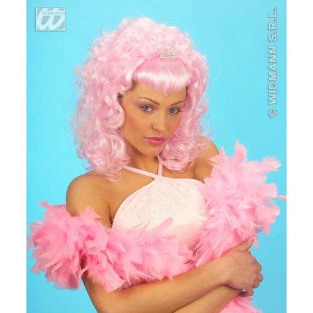 Pruik Glamour roze