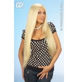 Pruik blond extra lang