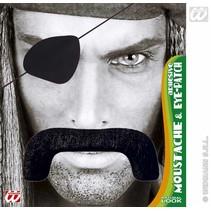 Snor piraat met ooglap
