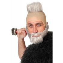 Pruik met baard Griekse held