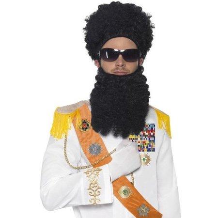 Dictator Set - Pruik, Baard, Bril