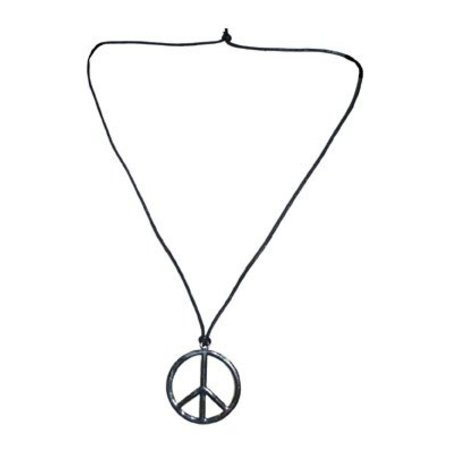 Peace ketting zilver