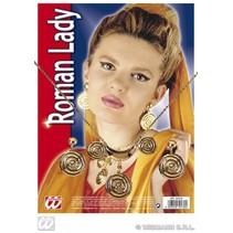 Romeinse set ketting met oorbellen