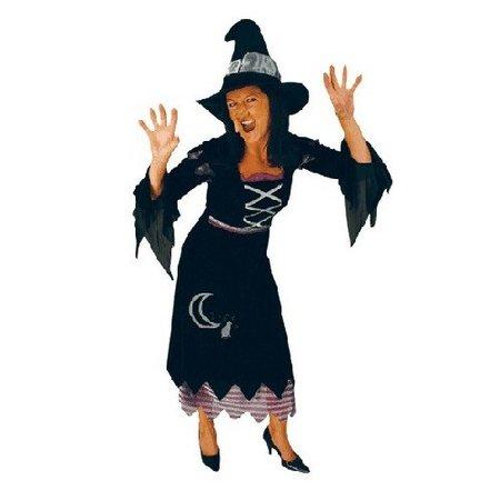 Heksen kleding: Heksenjurk met hoed Bellona