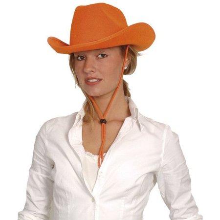 Cowboyhoed oranje vilt