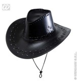 Cowboyhoed lederlook met decoratie