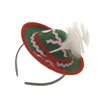 Tiroler mini hoed met diadeem