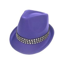 Kojak hoed paars met strass band