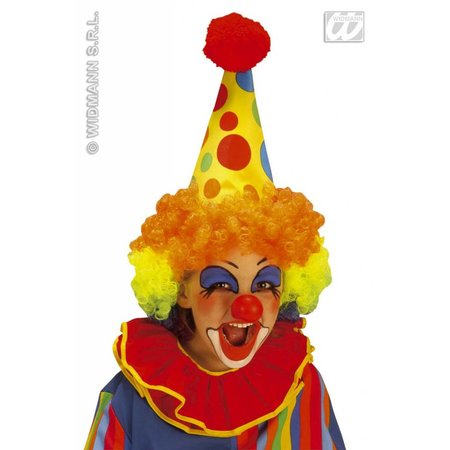 Clownshoed neon met pruik