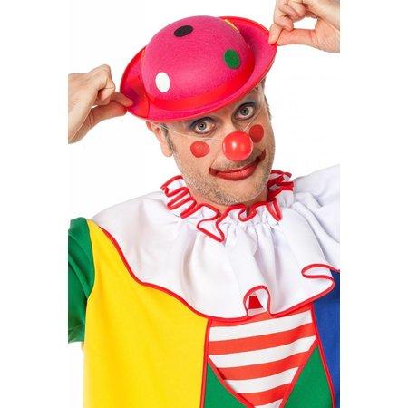 Clownshoed met noppen neon roze