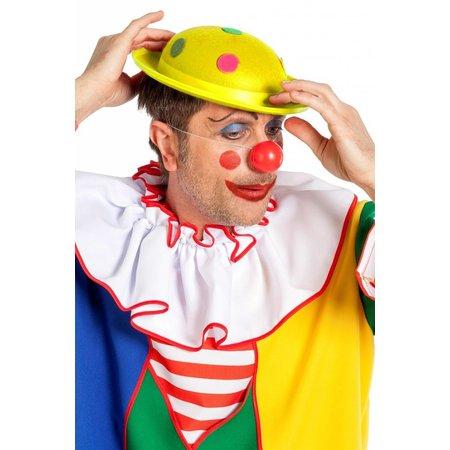 Clownshoed met noppen geel