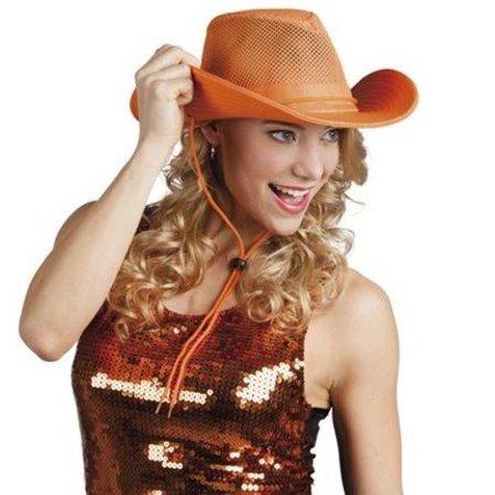 Cowboyhoed oranje stof
