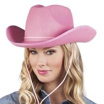 Hoed vilt Cowboy roze