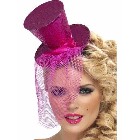Fever mini hoedje roze