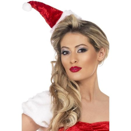 Mini kersthoedje op haarband