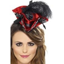 Piratenhoed op haarband rood