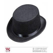 Hoge hoed zwart kind