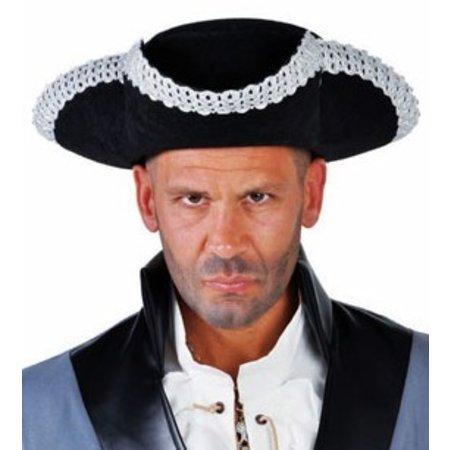 Elite hoed captain zilveren rand