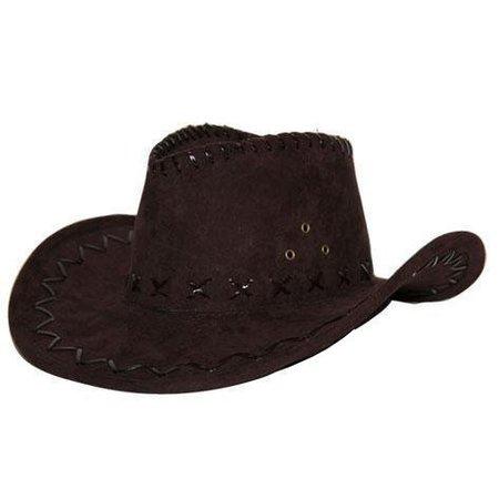 Hoed Cowboy suede bruin