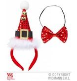 Mini hoedje kerst met strikje