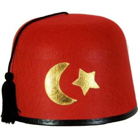 Hoed Fez met symbolen