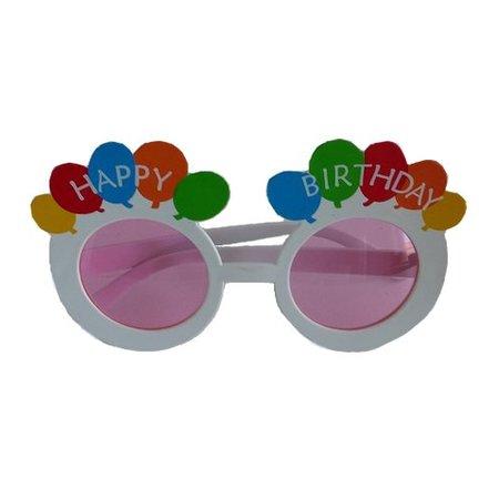 Funbril happy birthday roze glazen