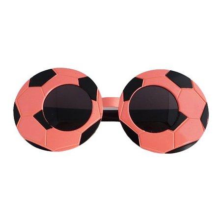 Funbril voetbal roze