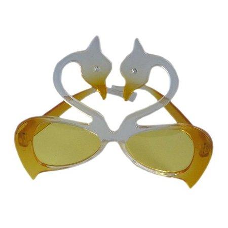 Funbril zwanen geel