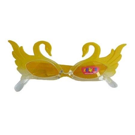 Funbril kind zwanen geel