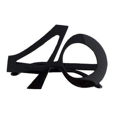 Funbril 40 zwart