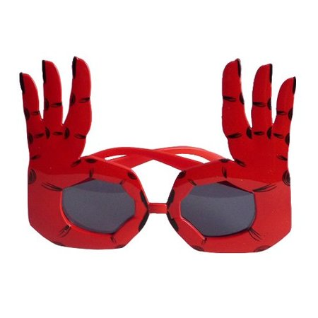 Funbril handen rood