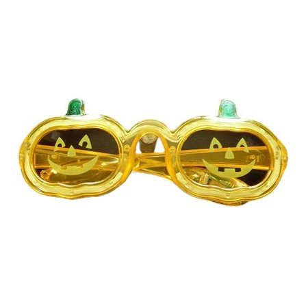 Funbril verlichting pompoen geel