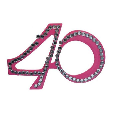Funbril 40 met steentjes roze