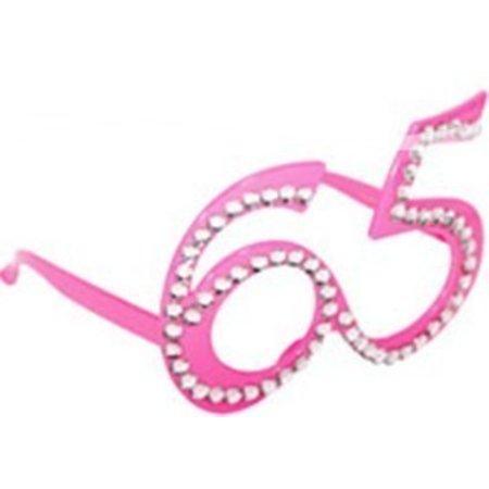 Funbril 65 met steentjes roze