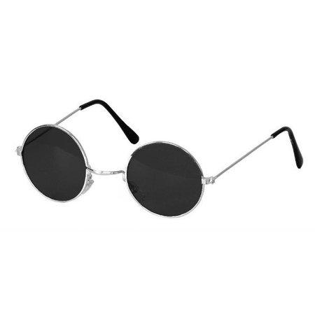 Hippiebril zwart