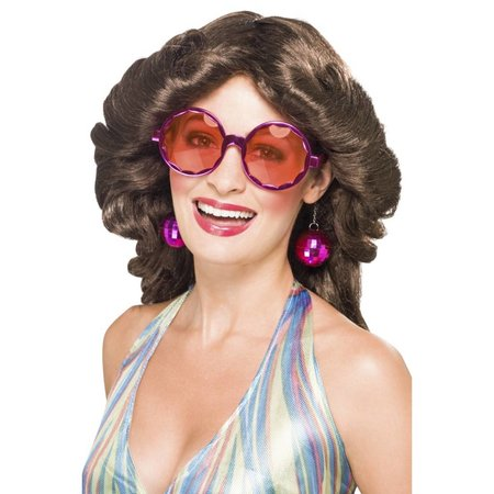 Disco bril met oorbellen