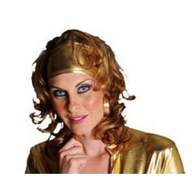 Haarband stretch goud