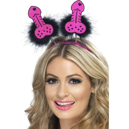 Hoofdband Willy Boppers pink